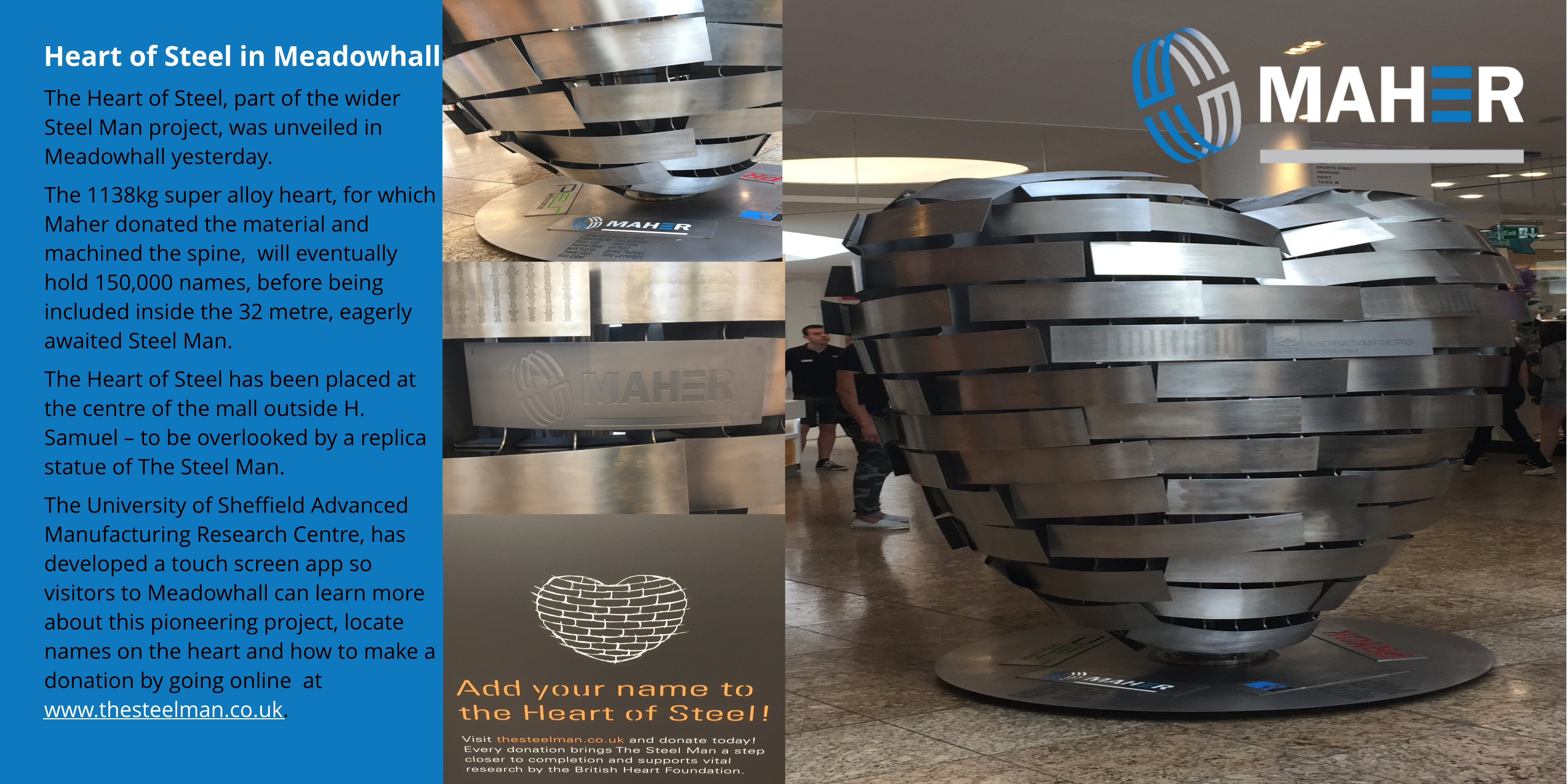 Heart of Steel in Meadowhall