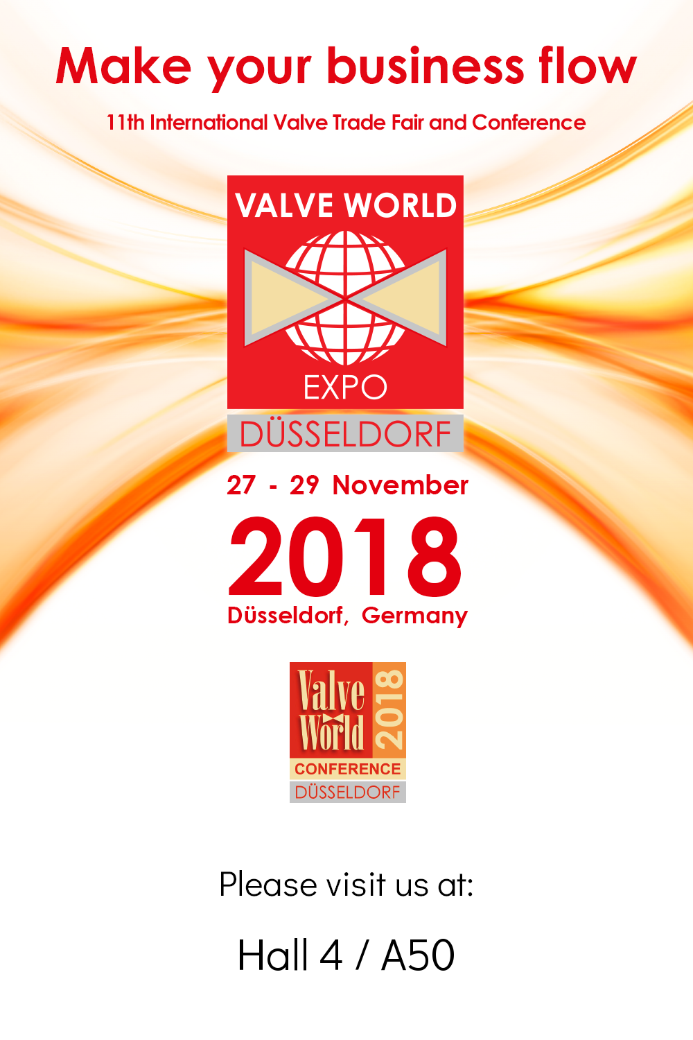 We are exhibiting at Valve World 2018